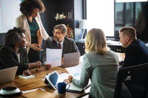 People in a team meeting